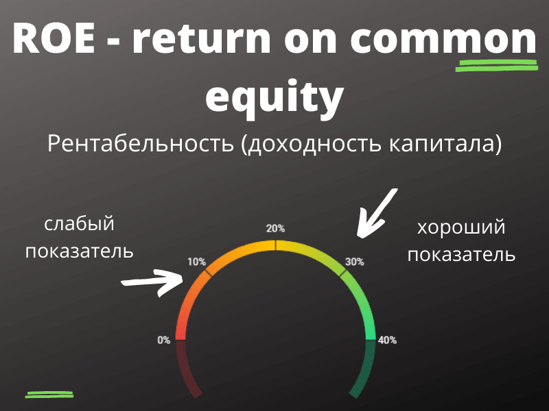 ROE - return on common equity (рентабельность капитала бизнеса)