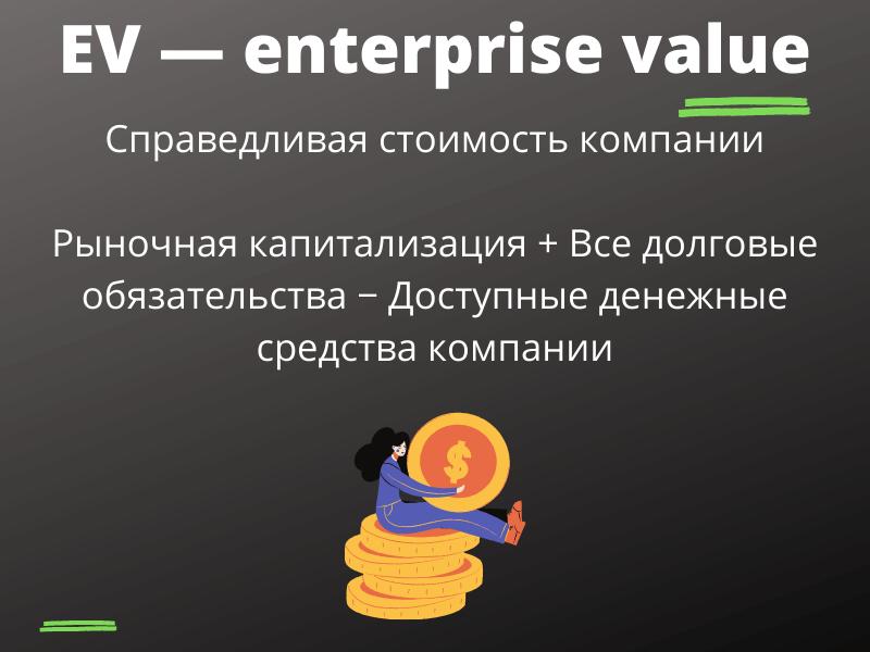 EV — enterprise value (справедливая цена)