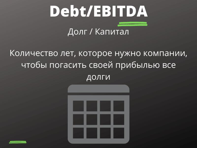D/E - Debt to Equity ratio (долг фирмы / капитал)